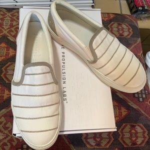 PESERICO White Canvas Silver Monili Sneakers Sz 11